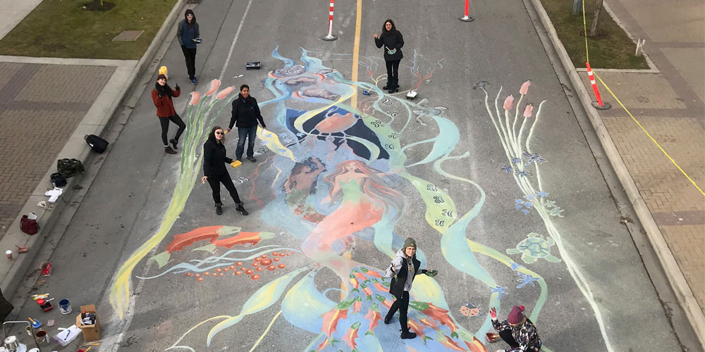 Street Mural, University Way