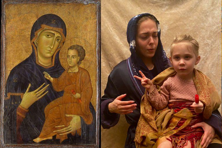 Niro, Nikkala - Berlinghiero, Madonna and Child